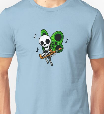 Adventure Time Keytar Skull Butterfly Unisex T-Shirt