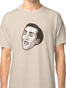 Nicolas Cage - Faces Of Awesome Classic T-Shirt