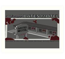 Visit Bates Motel Art Print