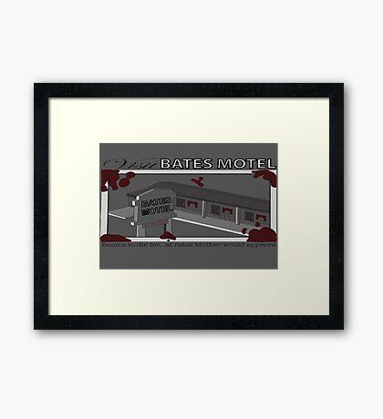 Visit Bates Motel Framed Print