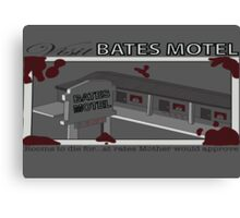 Visit Bates Motel Canvas Print