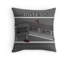 Visit Bates Motel Throw Pillow
