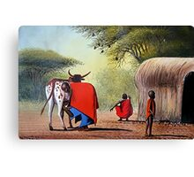 Maasai Family  Canvas Print