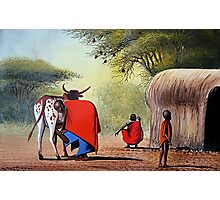 Maasai Family  Photographic Print