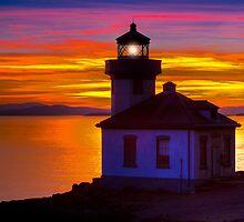 San Juan Island Sunset by Jim Stiles