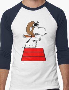Red Baron Snoopy Men's Baseball ¾ T-Shirt