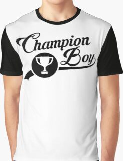 CHAMPION BOY TEE (BLACK) Graphic T-Shirt
