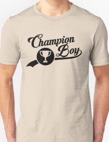 CHAMPION BOY TEE (BLACK) Unisex T-Shirt