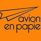 Paper Planes Orange Cards & Prints by M  Bianchi