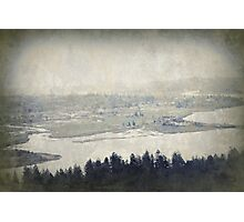 view from the Astoria Column Youngs Bay Photographic Print