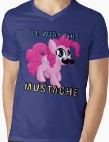 Pinkie Pie Mustache (My Little Pony: Friendship is Magic) Mens V-Neck T-Shirt