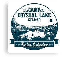 Crystal lake holidays Canvas Print