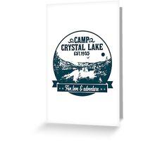 Crystal lake holidays Greeting Card