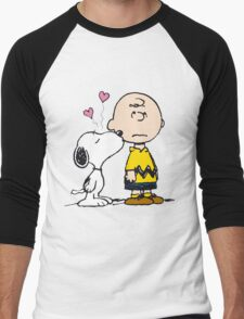 Snoopy and Charlie Men's Baseball ¾ T-Shirt