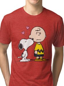 Snoopy and Charlie Tri-blend T-Shirt