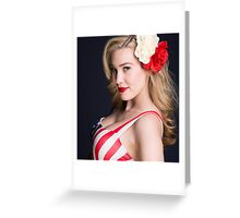 Blonde Bombshell Greeting Card