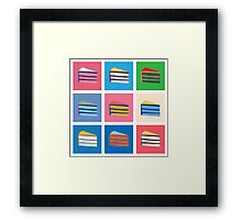Pop art cake slices Framed Print