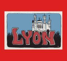 Travel sticker: Lyon The Basilica of Notre-Dame de Fourvière One Piece - Long Sleeve