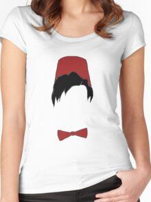 Eleventh doctor fez and bowtie Women's Fitted Scoop T-Shirt