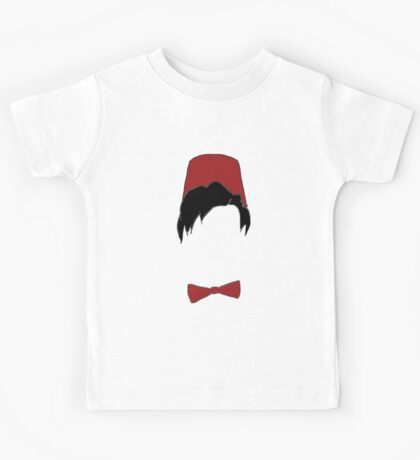 Eleventh doctor fez and bowtie Kids Tee