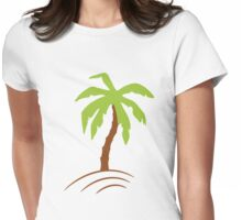 Palm Tree Womens Fitted T-Shirt
