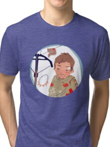 As you can not love a crossbow? Tri-blend T-Shirt