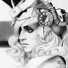 Lady Gaga - Graphite Drawing by EmzART