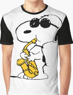 Snoopy Plays Sax Graphic T-Shirt