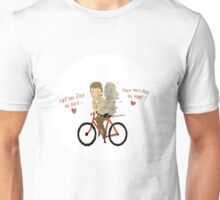 the walking heart/bike Unisex T-Shirt