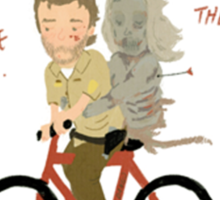 the walking dead heart/bike Sticker