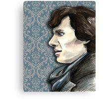 Sherlock Profile Canvas Print