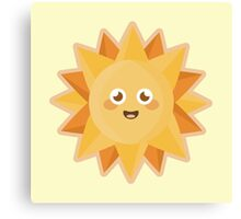 Kawaii Sun Canvas Print