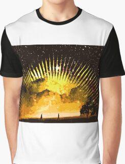 nebula beach walk Graphic T-Shirt