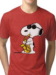Snoopy Plays Sax Tri-blend T-Shirt