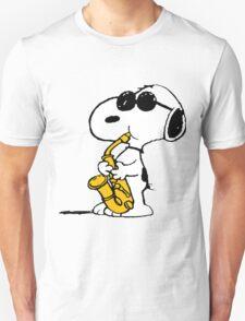 Snoopy Plays Sax Unisex T-Shirt