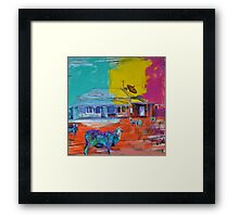 '.sheep.net' Framed Print