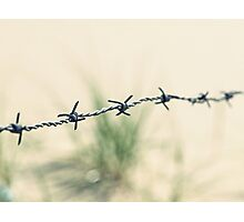 Walking through barbed wire Photographic Print