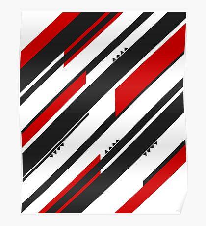 Black-Red Adrenaline Poster
