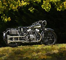 Brough Superior SS 100  by Frank Kletschkus