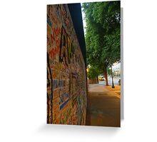 Graffiti Wall in Austin Greeting Card