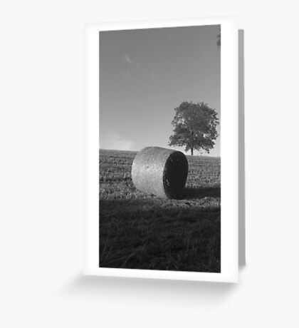 Hay Bale Greeting Card