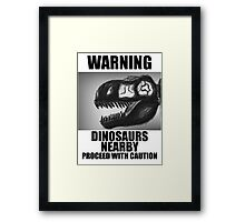 Design 5: Dinosaurs Nearby Framed Print