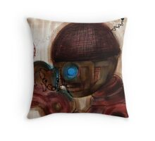 'I Smell a Rat', BoBot art by Beatrice Ajayi Throw Pillow