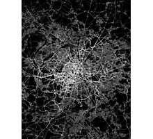 Paris map light Photographic Print