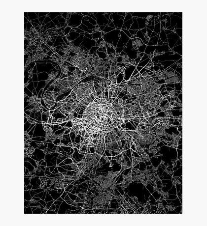 Paris map light Photographic Print