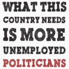 What This Country Needs Is More Unemployed Politicians Funny Political T-shirt by AllRiot-tshirts