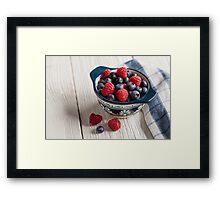 Just Berries Framed Print