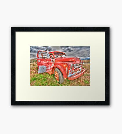 Rusty Dodge Pickup Truck Framed Print