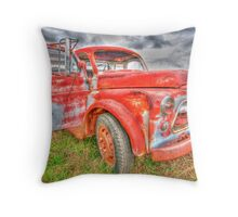 Rusty Dodge Pickup Truck Throw Pillow
