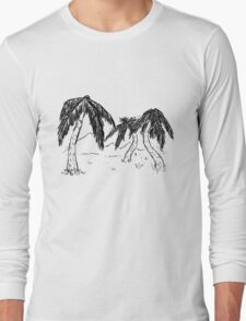 Design 12: 3 Palm Trees Long Sleeve T-Shirt